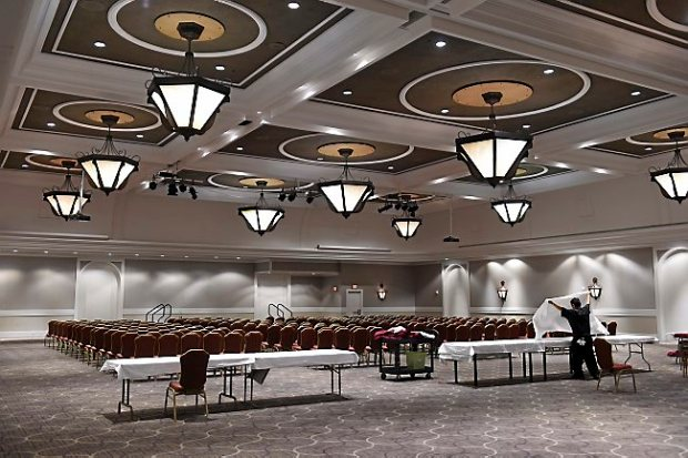 The refurbished Minnesota Ballroom in the Intercontinental Hotel, formerly the Crowne Plaza, in St. Paul. (Pioneer Press: Scott Takushi)
