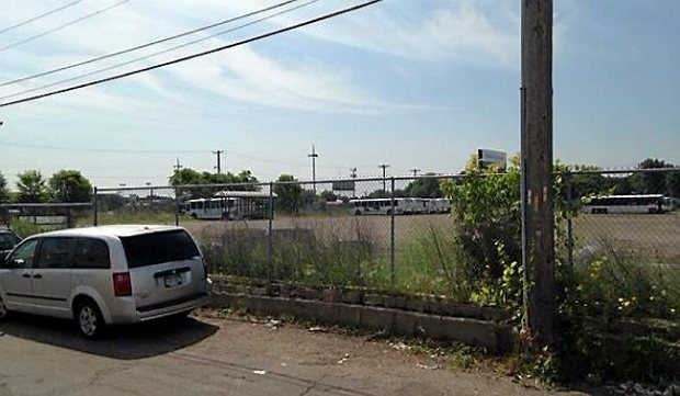 """A Major League Soccer stadium could replace blight at the former Metro Transit """"bus barn"""" property off Snelling and University avenues. (Pioneer Press: Frederick Melo)"""