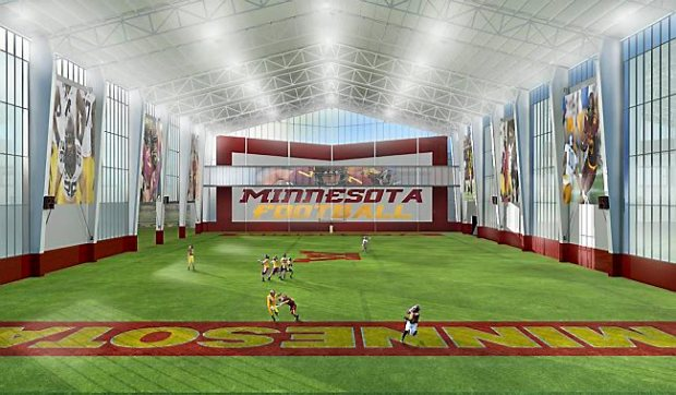 Gophers unveil plan for 13 million track facility for Indoor facility design