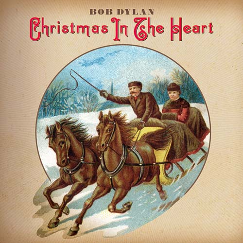 Undated handout photo of the album cover for Bob Dylan's Christmas album, Christmas in the Heart.