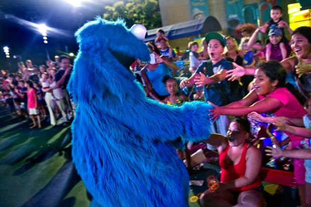 Cookie Monster causes an uproar among fans at Sesame Place.