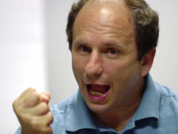Sen. Paul Wellstone, D-Minn., makes a point as he talks with reporters in Minneapolis, in this June 7, 2002 file photo. Wellstone was killed Friday, Oct. 25, 2002 when his small chartered plane crashed near an airport runway in Eveleth, Minn, Democratic sources said. (AP Photo/Ann Heisenfelt, File)