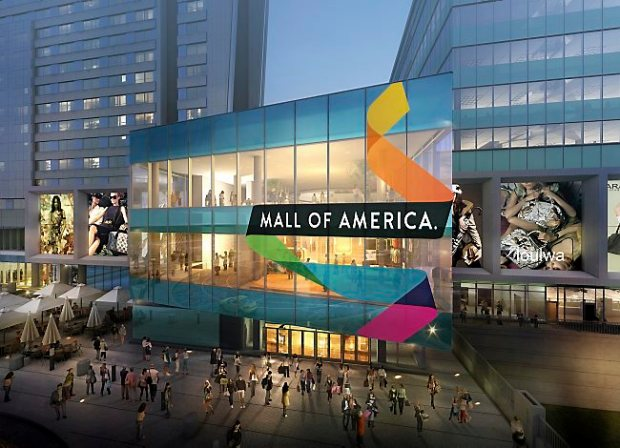 Mall of America, Mortenson Construction, Hotel Development LLC and the City of Bloomington celebrated the beginning of a $325 million expansion project at the Mall with a ceremonial groundbreaking event on Tuesday, March 18, 2014. The Mall expansion will include a 342-room JW Marriott hotel, office tower, high-end retailers, new dining options, a tourist welcome center and large event space. An extension of the Mall on all three levels on the north side, it is the most significant construction project at the property since opening in 1992. Image courtesy of DLR Group/Mall of America.