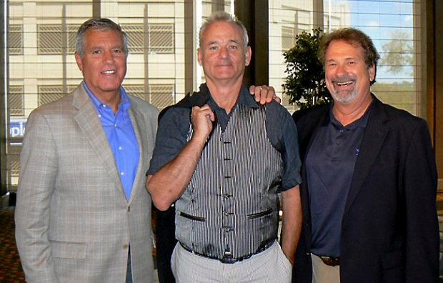 St. Paul Saints chairman and principal owner Marv Goldklang, from left, with co-owner Bill Murray and Mike Veeck, executive adviser to the chairman. (Courtesy of the St. Paul Saints)