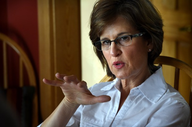 State Auditor Rebecca Otto is interviewed in her home in Marine on St. Croix on Friday, January 8, 2016. (Pioneer Press: Jean Pieri)