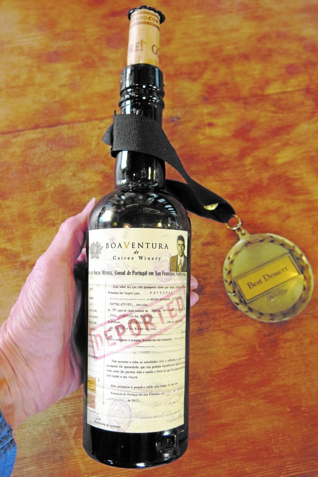 DePorted port-style dessert wine is Brett Caires' homage to his Portuguese-born great-grandfather who was arrested and deported for making port during Prohibition. (Courtesy of Amy Laughinghouse)