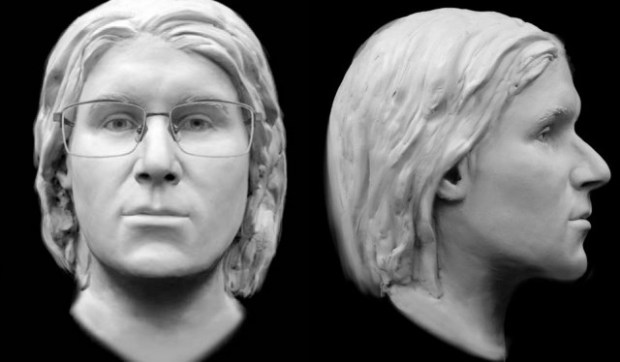 In February 2016, the Hennepin County medical examiner's office released this facial reconstruction of a man whose remains were found Sept. 29, 2014, in a decomissioned railroad switching shed in Rosemount. (Courtesy image)