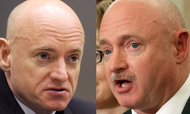 Astronauts Scott Kelly, left, and Mark Kelly are 52. Mark Kelly is husband of former Congresswoman Gabrielle Giffords. (Getty Images: Chip Somodevilla)