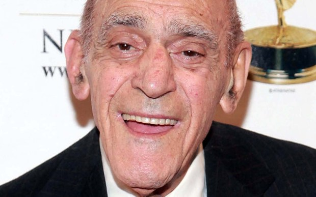 """Actor Abe Vigoda was born on this day. The guy who portrayed Tessio in """"The Godfather"""" and Fish in """"Barney Miller."""" He died in January 2016 at age 95. (Getty Images: Astrid Stawiarz)"""