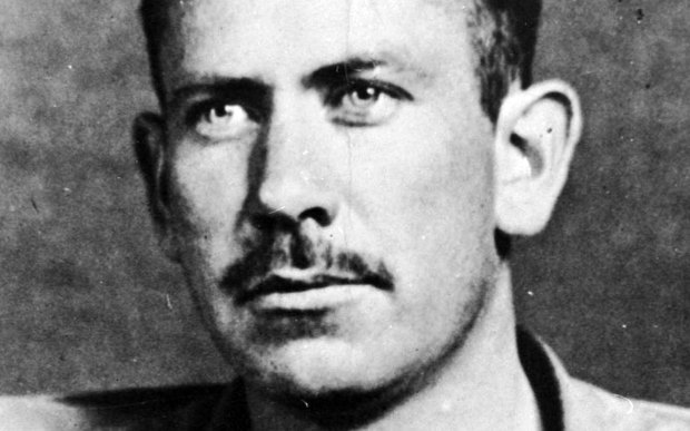 """Pulitzer- and Nobel-winning novelist John Steinbeck was born on this day in 1902. His greatest hits include """"The Grapes of Wrath,"""" """"East of Eden"""" and """"Of Mice and Men."""" He died in 1968. (Hulton Archive/Getty Images)"""