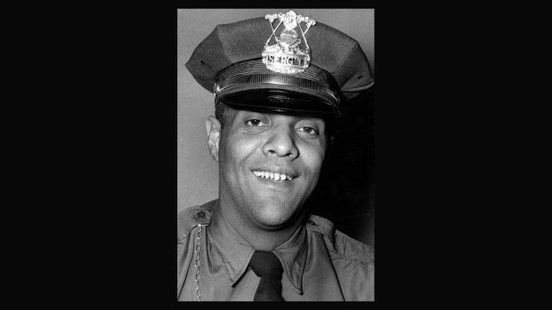 Nov. 1955 photo of Sgt James S. Griffin. Griffin joined the St. Paul Police Department in 1941 and became the first black St. Paul officer to reach the ranks of sergeant, captain and deputy chief. In May 2004, the department's new headquarters building was dedicated in his memory. Griffin died in 2002 at age 85. (Pioneer Press File)