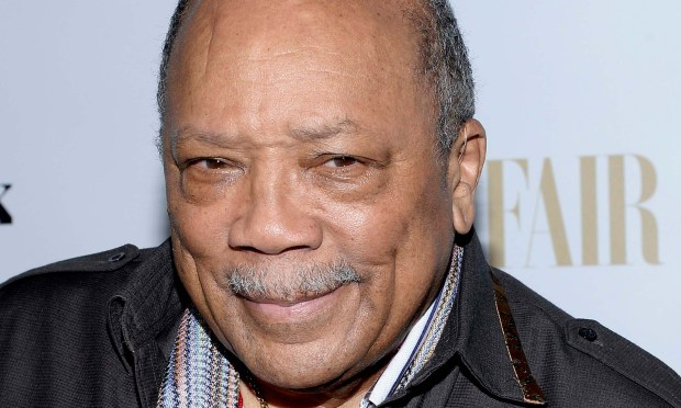 Composer-conductor and record producer Quincy Jones is 83. He produced music by Frank Sinatra, Michael Jackson, Aretha Franklin and Celene Dion. (Getty Images: Kevork Djansezian)