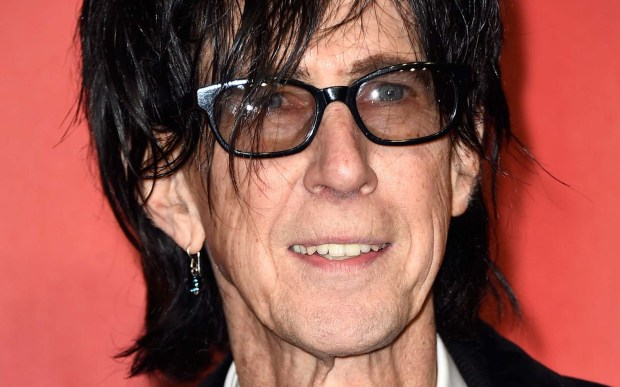 Singer Ric Ocasek of the Cars is 67. (Getty Images: Frazer Harrison)