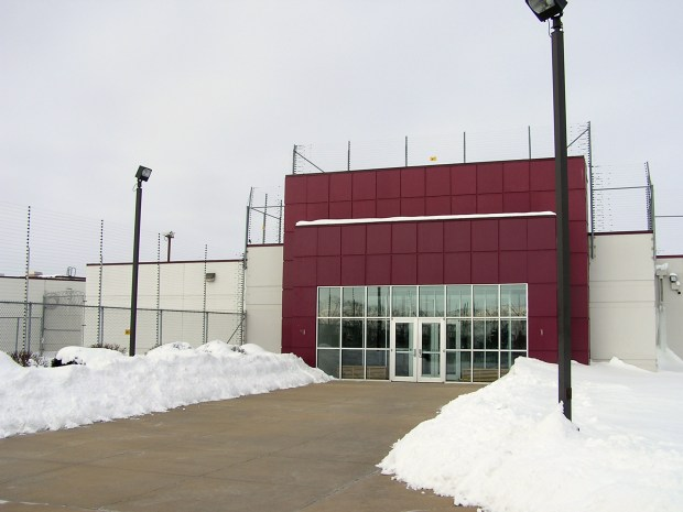 This Jan. 5, 2010 photo, shows the Prairie Correctional Facility in Appleton, Minn. Republicans pushed legislation though a committee on Tuesday, March 22, 2016, to re-open a privately run prison in western Minnesota despite repeated interruptions from protesters who briefly halted debate as they pushed lawmakers to instead consider ways to decrease the state's prison population. GOP lawmakers have targeted the Prairie Correctional Facility in Appleton, as a way to ease Minnesota's overcrowded prisons. (Mark Steil/Minnesota Public Radio via AP) MANDATORY CREDIT