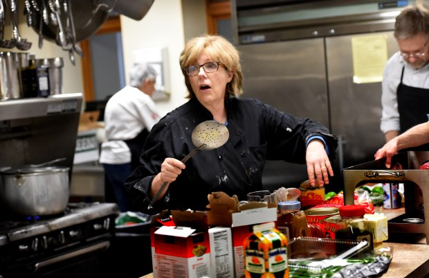 For 25 years Chef Barb Westman works with staff and volunteers to prepare the Wednesday lunch at Central Presbyterian Church in downtown St. Paul Wednesday, March 9, 2016. (Pioneer Press: Jean Pieri)