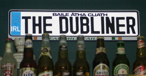 A sign above the bar at the Dubliner in St. Paul. (Pioneer Press file photo: Sherri LaRose)