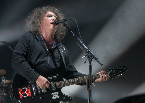 Robert Smith of The Cure performs in Mexico in 2013. (Getty Images)