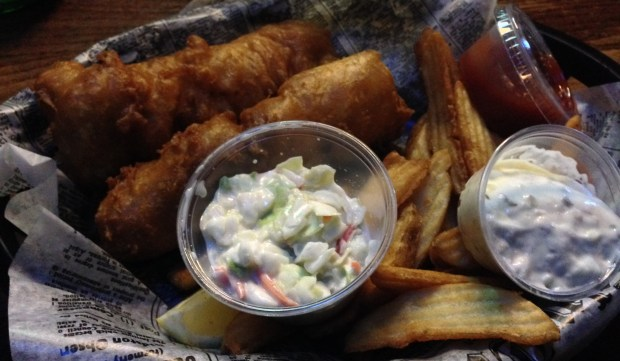 Fish and chips at O'Malley's in Woodbury. (Pioneer Press: Jess Fleming)