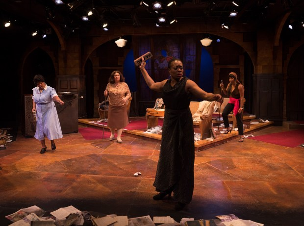 "Aimee K. Bryant, left, Thomasina Petrus, Regina Marie Williams and Traci Allen Shannon are in ""Nina Simone: Four Women"" at Park Square Theatre. (Photo by Petronella J. Ytsma)"