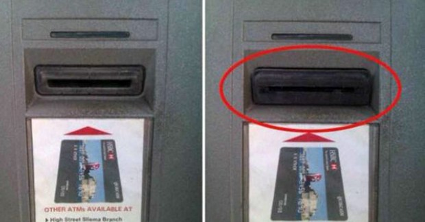 Undated courtesy photo, circa March 2016, of a skimmer - a small, nondescript electronic device that would-be thieves attach to or hide inside a gas pump -- this is an example of an external skimmer found on gas pumps or ATMs. The devices secretly record customers' credit and debit card information, which criminals can then use to commit fraud and identity theft. Photo courtesy of the Minnesota Department of Commerce.