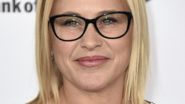 Patricia Arquette arrives at the Film Independent Spirit Awards on Saturday, Feb. 27, 2016, in Santa Monica, Calif. (Photo by Jordan Strauss/Invision/AP)