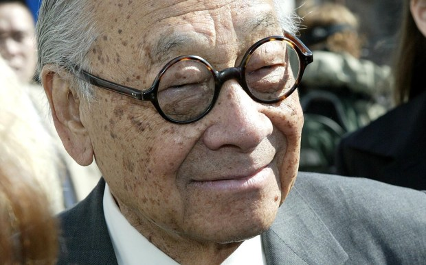 American architect I.M. Pei is 99. He's probably best known for the controversial glass pyramid in the courtyard at the Louvre Museum in Paris. (Photo by Paul Hawthorne/Getty Images)
