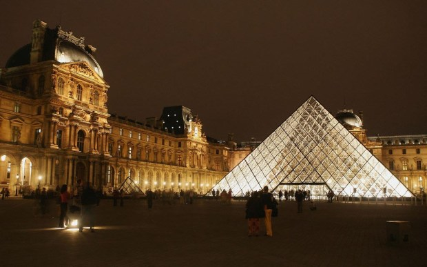 Here's that design by the architect I. M. Pei, the Pyramide of the Louvre museum. Draw your own concusion. (Getty Images: Pascal Le Segretain)