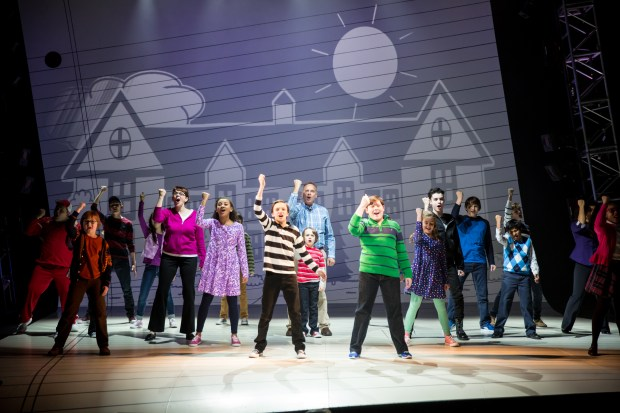 "A scene from an April 2016 rehearsal of ""Diary of a Wimpy Kid the Musical"" at Children's Theatre Company in Minneapolis. ""I see this on Broadway,"" said Jeff Kinney, author of the wildly popular children's books on which the world-premiere musical is based. Opening night is Friday, April 15. Photo courtesy of Children's Theatre Company: Dan Norman."