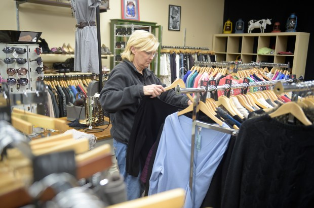 The consignment boutique Worth Repeating in Elk River offers a selection of women's clothing and accessories. (Special to the Pioneer Press: Craig Lassig)