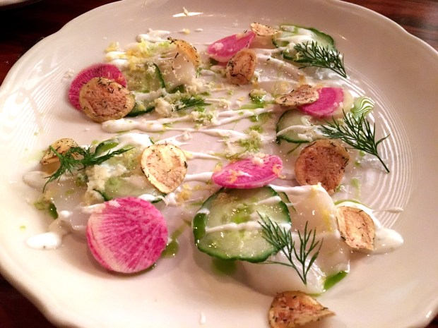 Afresh, delicious scallop ceviche at Saint Dinette in St. Paul. (Pioneer Press: Jessica Fleming)