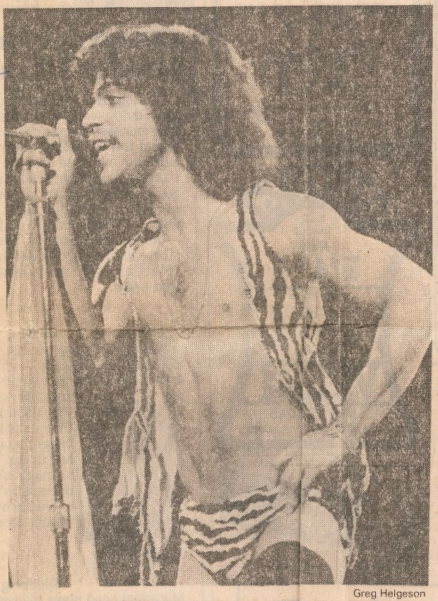 Prince, 20, performs at the Orpheum Theater in Minneapolis on Feb. 9, 1981.
