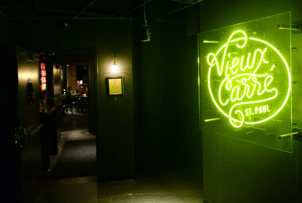 The entrance of Vieux Carre in the basement of the Hamm Building in St. Paul. (Pioneer Press: John Autey)