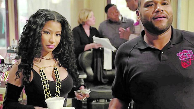 "Nicki Minaj and Anthony Anderson are in ""Barbershop: The Next Cut."""