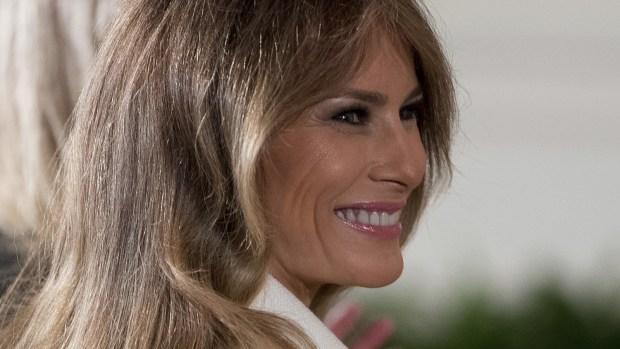 Slovenia-born first lady Melania Trump is 47. (AP Photo/Andrew Harnik, File)