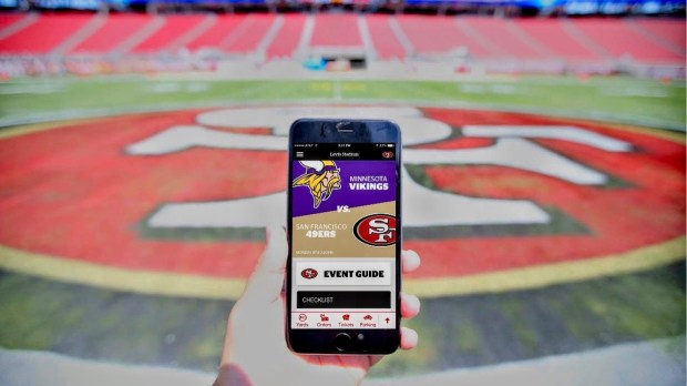 Santa Clara, Calif.-based VenueNext has created multipurpose public-venue apps for, among others, the San Francisco 49ers and the Minnesota Vikings (with the latter app due to be released later this year). (Courtesy photo: VenueNext)