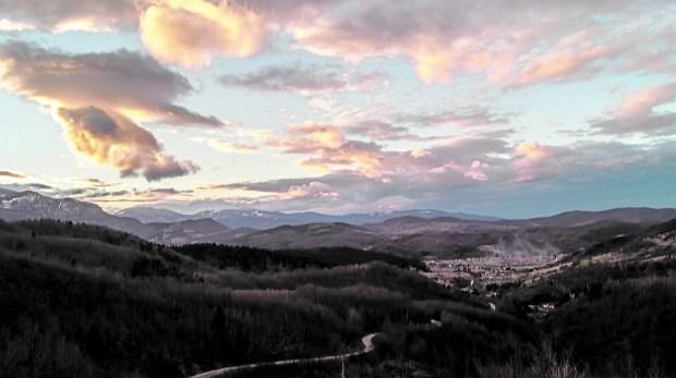 Sunset over the Bosnian countryside. (Elliot Weir)