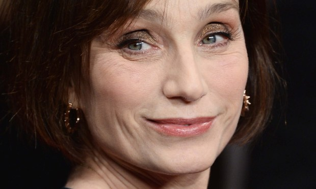 """Actress Kristin Scott Thomas is 56. Among her credits are """"The English Patient"""" and — remember this? -- the 1986 film """"Under the Cherry Moon,"""" opposite Prince. (Getty Images: Ian Gavan)"""
