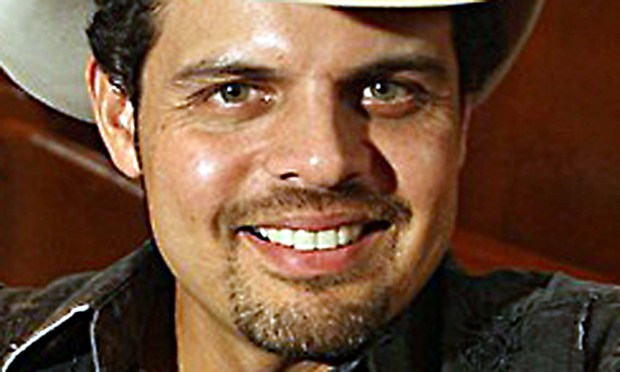 Country music artist Rick Trevino, sitting at the Ryman Auditorium in Nashville, is 45. (Associated Press photo)