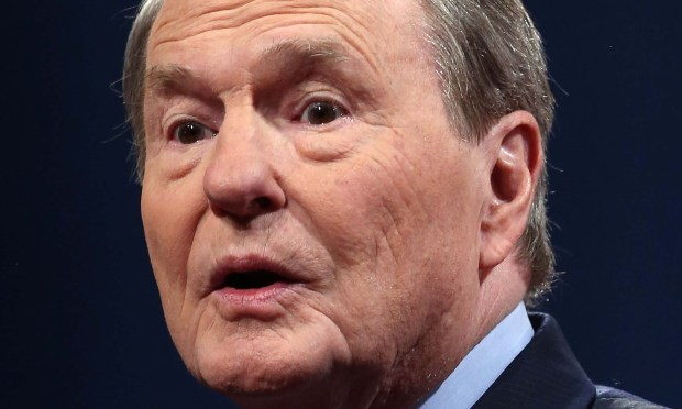 PBS newscaster Jim Lehrer is 82. (Getty Images: Justin Sullivan)