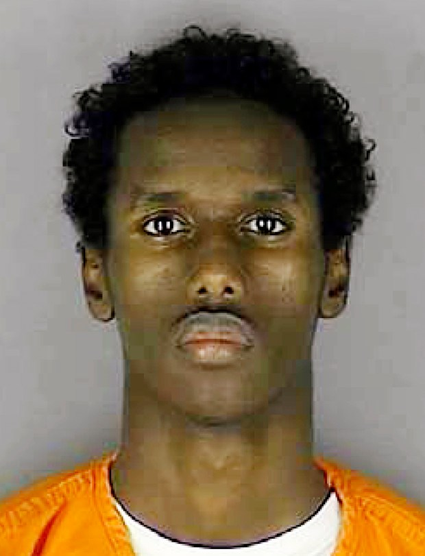 FILE - This undated file photo provided by the Hennepin County Sheriff's Office shows Guled Omar, one of several Minnesota men facing trial for allegedly plotting to join the Islamic State group. Jury selection in the trial for Omar and two other men began Monday, May 9, 2016, in Minneapolis. (Hennepin County Sheriff's Office via AP, File)