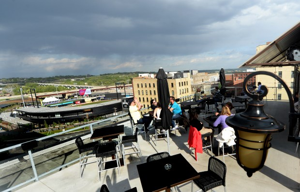 Rooftop patio at Ox Cart Ale House