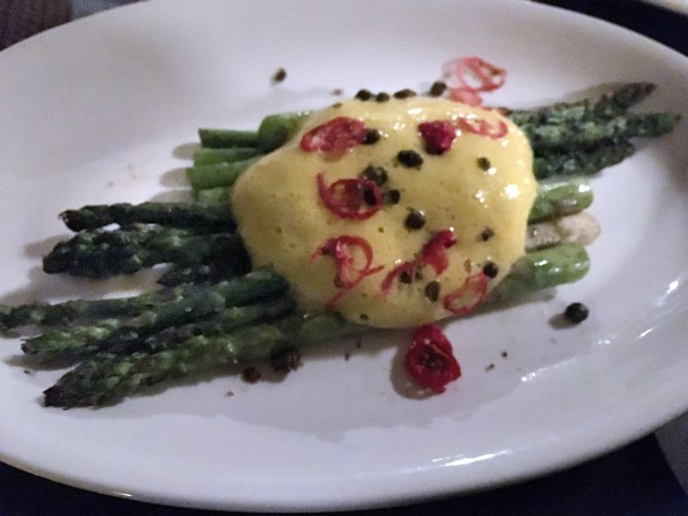 May 5, 2016 photo of Asparagus dish at the Strip Club Meat and Fish for small bites section. (Pioneer Press: Jessica Fleming)