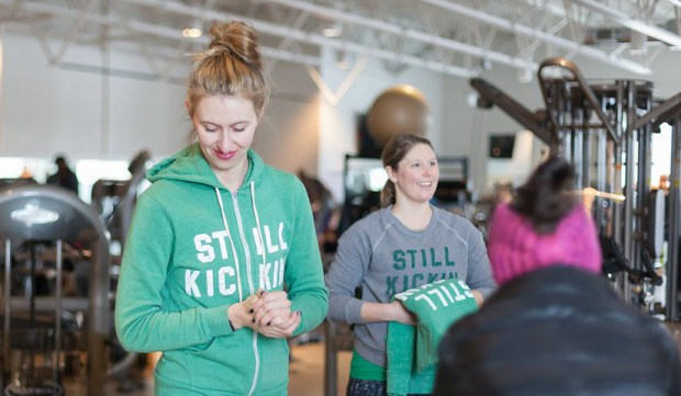 Nora McInerny Purmort, left, and Lindsay Wenner, volunteer chief operating officer of the nonprofit Still Kickin. (Melissa Floyd Photography)