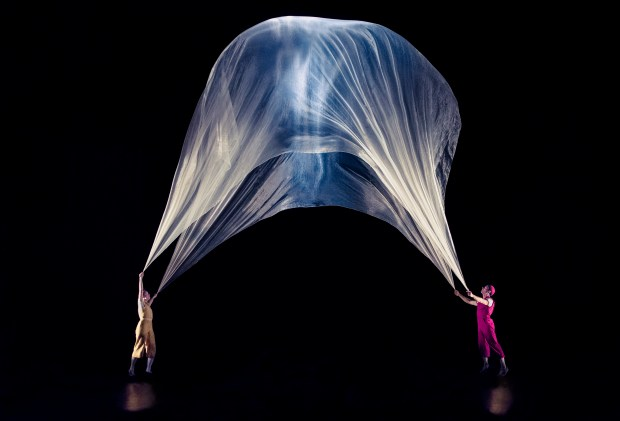 "Christina Gelsone and Seth Bloom will present their show, ""Airplay,"" a comic circus adventure, as part of the Flint Hills International Children's Festival at the Ordway Center for the Performing Arts. The event, which will take place May 31-June 5, 2016, showcases diverse art and cultures of more than 25 countries from across the globe. Family Weekend (June 4-5) will feature free outdoor performances, crafts and activities in and around the Ordway, as well as indoor performances by international artists from four different countries. (Courtesy photo)"