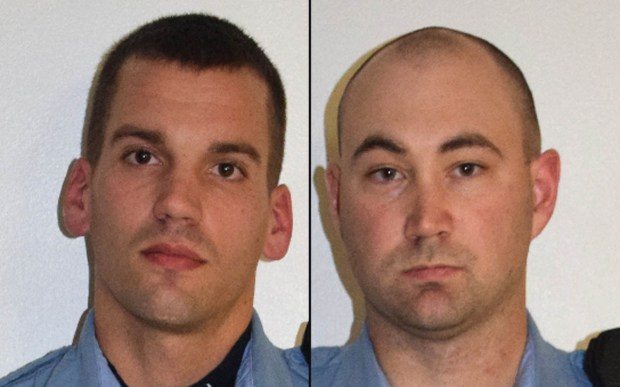 Minneapolis police officers Dustin Schwarze, left, and Mark Ringgenberg (AP via Minneapolis police)