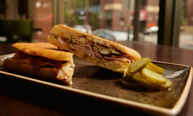 Cubano sandwich at the Handsome Hog restaurant in Lowertown in St. Paul on Wednesday, June 1, 2016. (Pioneer Press: John Autey)