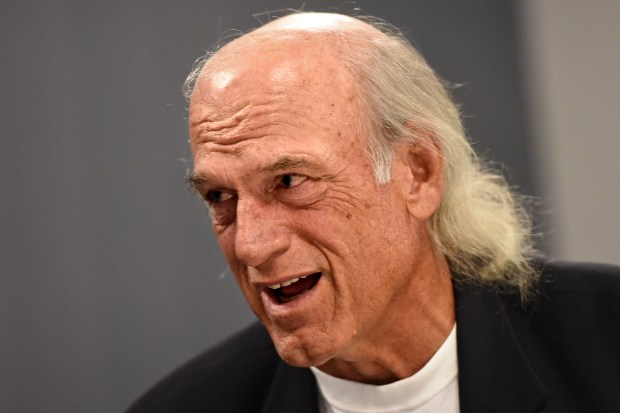 Former Minnesota Gov. Jesse Ventura gives the keynote speech at a Minneapolis gathering touting sister city projects called Sister Cities International, Friday, July 17, 2015. (Pioneer Press: Jean Pieri)
