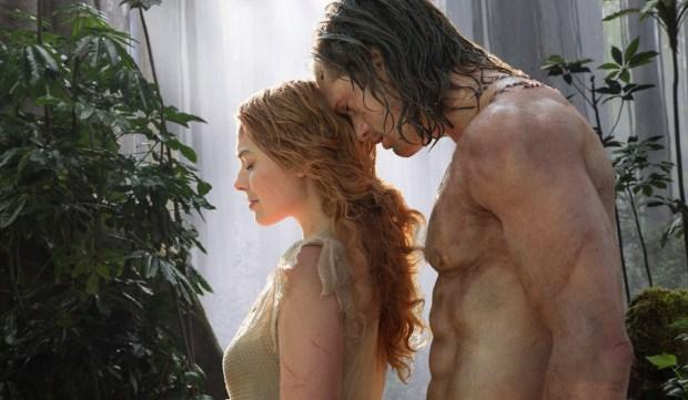 "Margot Robbie and Alexander Skarsgard in ""Legend of Tarzan."""