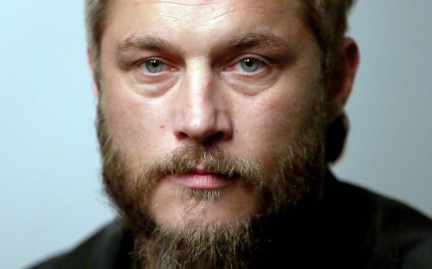 """Actor, model and beard farmer Travis Fimmel of the History Channel's """"Vikings"""" is 37. (Getty Images: Jonathan Leibson)"""