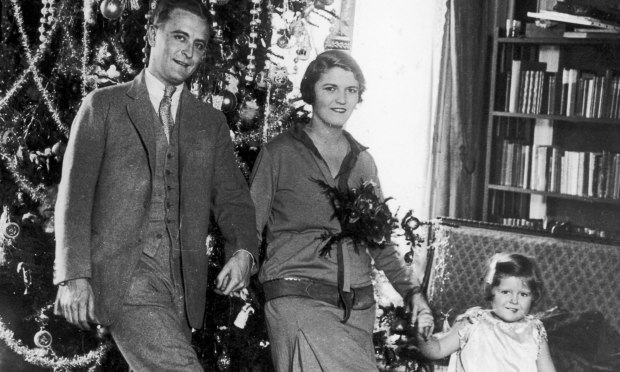 "Novelist Zelda Sayre Fitzgerald -- shown with her St. Paul-born husband, F. Scott Fitzgerald, and their daughter Frances, aka ""Scottie,"" was born on this day in 1900. She died in a fire at a psychiatric hospital in 1948. (Hulton Archive/Getty Images)"